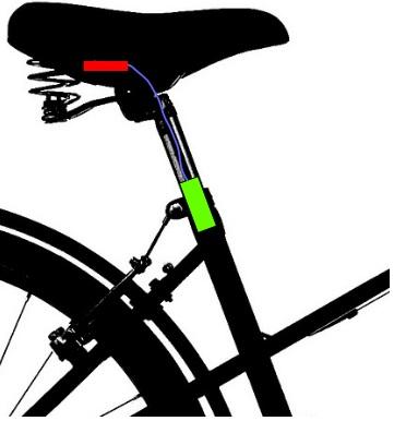 Bike Bean Installation in der Sattelstütze